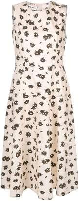 Marni floral flared midi dress