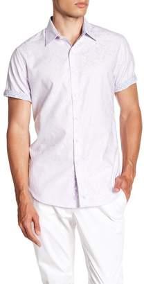 Robert Graham Fannin Short Sleeve Classic Fit Print Woven Shirt