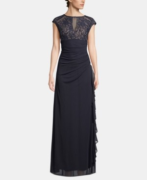 Betsy & Adam B & A by Lace Cutout-Top Gown