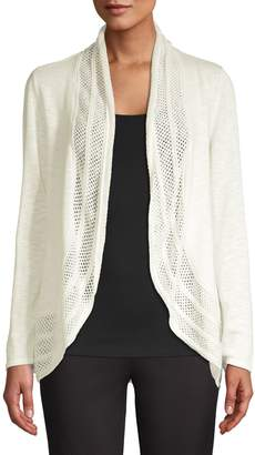 Style&Co. Style & Co. Open Front Eyelet Cardigan
