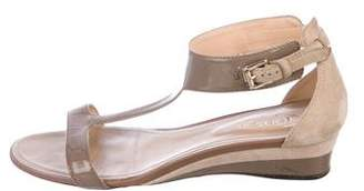 Tod's Patent Leather Wedge Sandals