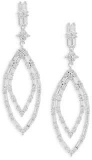 Saks Fifth Avenue Crystal Baguette Drop Earrings