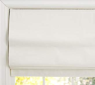Pottery Barn Emery Linen/Cotton Cordless Roman Shade - Ivory