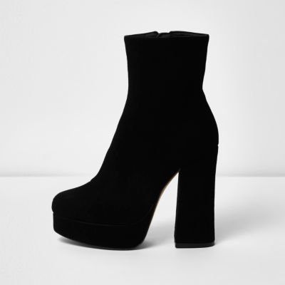 River IslandRiver Island Womens Black suede platform boots