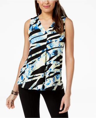 Alfani Colorblocked Handkerchief-Hem Top, Created for Macy's