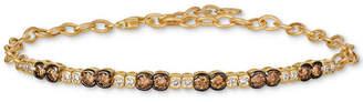LeVian Le Vian Chocolate & Nude Diamond Link Bracelet (1-1/5 ct. t.w.) in 14k Gold