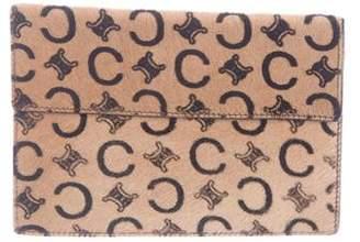 Celine Monogram Ponyhair Wallet