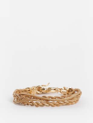 GOLD PLATED DOUBLE BRAIDED BRACELET