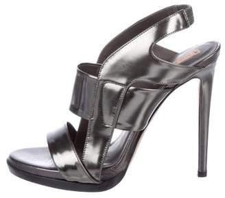 Reed Krakoff Metallic Leather Sandals