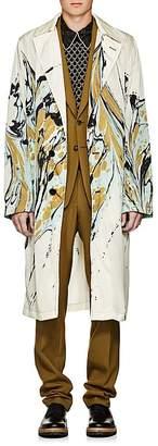 Dries Van Noten Men's Marble-Print Trench Coat