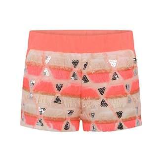 Billieblush BillieblushGirls Pink Sequin Fringed Shorts