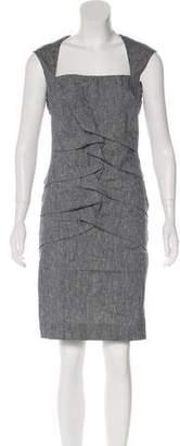 Nicole Miller Chambray Sleeveless Dress
