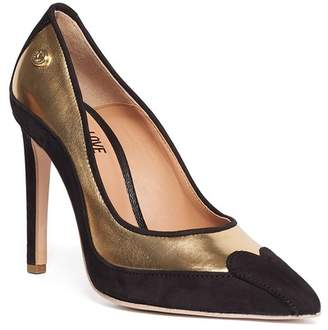 Love Moschino Leather Contrast Stiletto Pump
