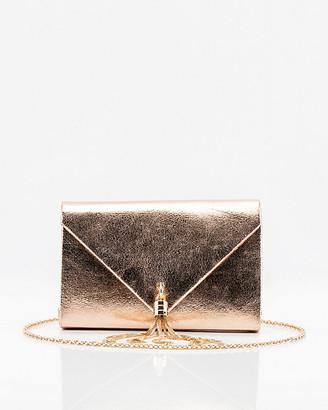 Le Château Faux Leather Envelope Tassel Clutch
