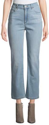 Eileen Fisher High-Waist Boot-Cut Organic Cotton Denim Jeans, Petite