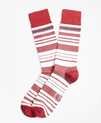 Brooks Brothers Variegated Stripe Crew Socks