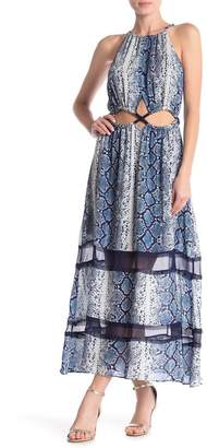 Ramy Brook Norina Silk Snake Print Maxi Dress