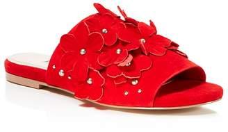 Charles David Women's Sicilian Embellished Suede Slide Sandals