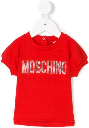 Moschino Kids logo studded T-shirt