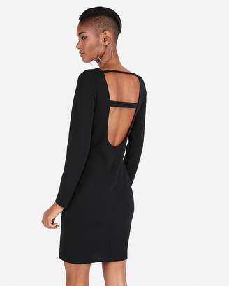 Express Scoop Back Mini Sheath Dress
