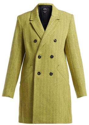 A.P.C. Joan Double Breasted Wool Blend Coat - Womens - Yellow