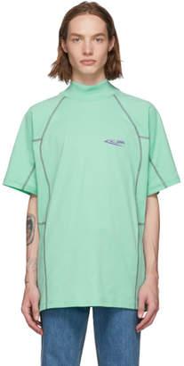 Calvin Klein Green Scuba Mock Neck T-Shirt