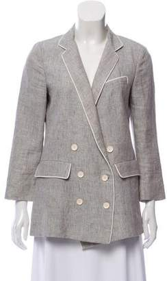 Band Of Outsiders Double-Breasted Linen Blazer