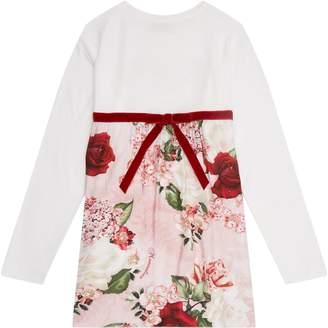 MonnaLisa Floral Frame T-Shirt