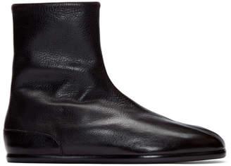 Maison Margiela Brown Flat Tabi Ankle Boots