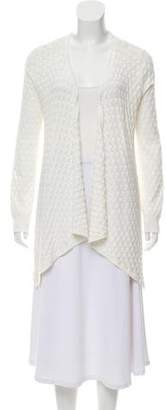 Magaschoni Pointelle Open-Front Cardigan