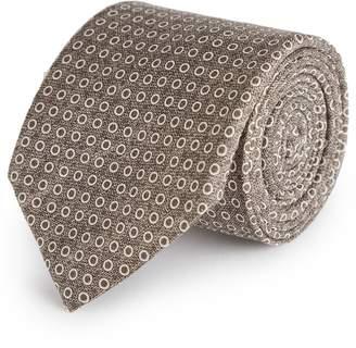 Reiss Kym - Silk Dot Tie in Taupe