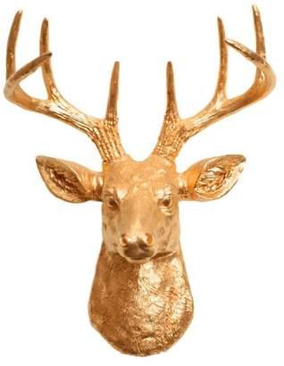 White Faux Taxidermy Mini Faux Deer Head Wall Mount