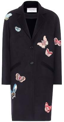 Valentino Embroidered wool coat