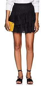 Ulla Johnson Women's Bristol Dotted Tulle Miniskirt - Black