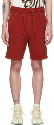 Maison Margiela Red Cotton Shorts