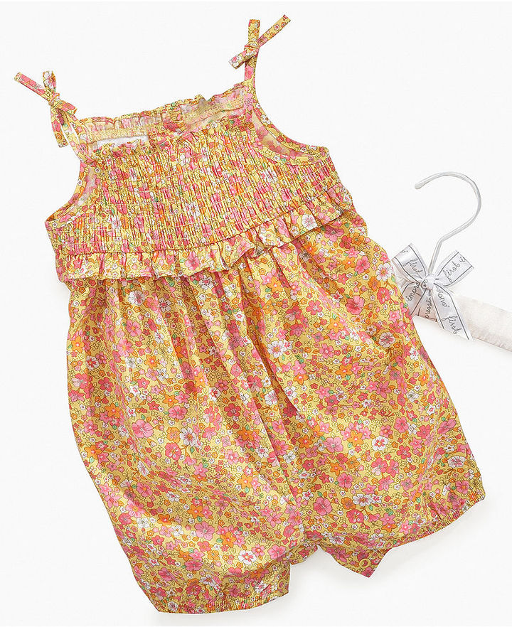 First Impressions Baby Romper, Baby Girls Smocked Floral Romper