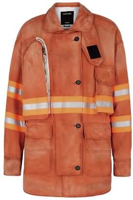 Calvin Klein Orange Reflective Cotton Jacket