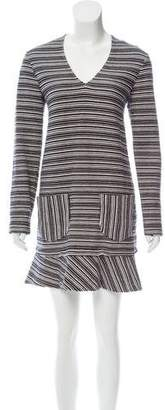 See by Chloe Fluted Striped Dress