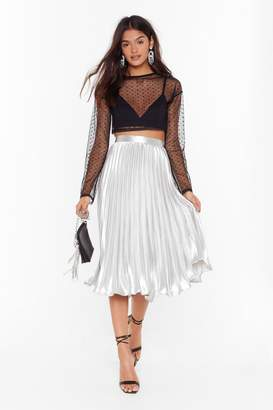 Nasty Gal Let's Get Moving Pleated Skirt