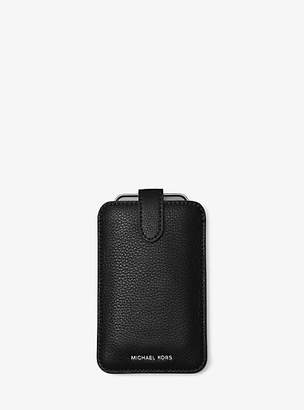 Michael Kors Pebbled Leather Phone Sleeve For Iphone 6/6s