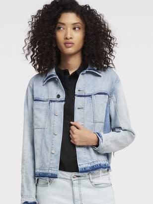 DKNY Mixed Wash Denim Jacket