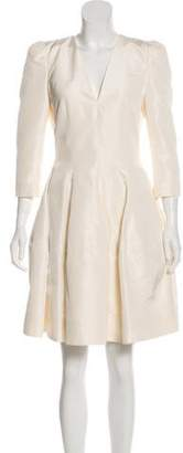 Alexander McQueen Silk Knee-Length Dress