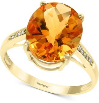 Effy Citrine (4-1/5 ct. t.w.) & Diamond Accent Ring in 14k Gold