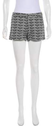 Joie Printed Mid-Rise Shorts