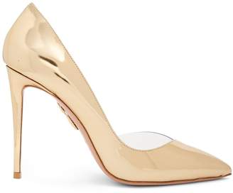 Aquazzura Eclipse 115 point-toe patent-leather pumps
