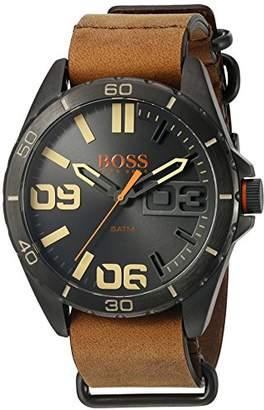 HUGO BOSS Orange Men's 1513316 Berlin Analog Display Japanese Quartz Brown Watch