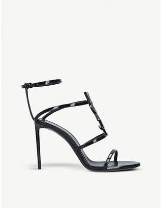 61341e962 Saint Laurent Black Leather Straps Sandals For Women - ShopStyle UK