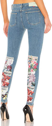 Off-White Diagonal Flower Shop Skinny jean.
