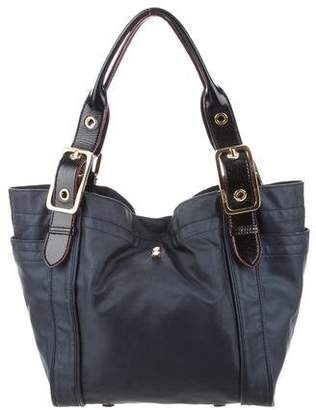 MZ Wallace Leather-Trimmed Canvas Tote
