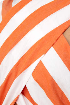 Mara Hoffman Orange Striped Rosario Dress